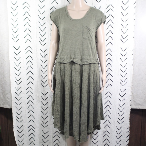 Free People FP Beach Green Beach Cover Dress Small